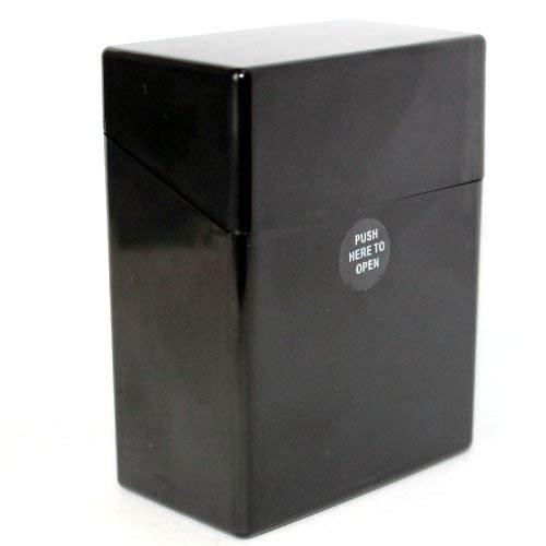 Zigarettenboxen Kunststoff bunt Sortiert Auswahl von Gr. L (20 Zigaretten) XL (25) XXL (30) und XXXL (40) (Schwarz Größe XXXL für 40 Zigaretten)