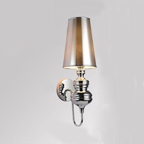 Applique Moderne chambre minimaliste lampe de chevet personnalité créative hôtel escalier salon chambre style américain lampe murale (quatre couleurs en option) A+ ( Couleur : Silver )
