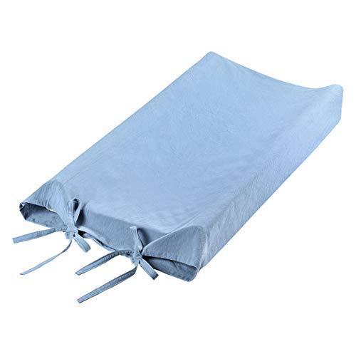 Yissone Skötbäddsöverdrag baby blöja madrassfoder mjuk bomull skötbord lakan dusch gåva för pojkar flickor 81 x 40 x 10 cm (blå)