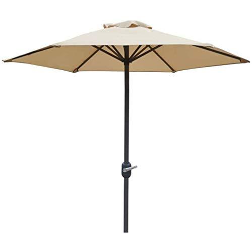 CHLDDHC Sombrillas de jardín Paraguas de Mercado, 6 pies, Sombrilla de Patio con manivela, 6 Varillas de Hierro, Sombrilla de Mesa al Aire Libre para Playa, jardín