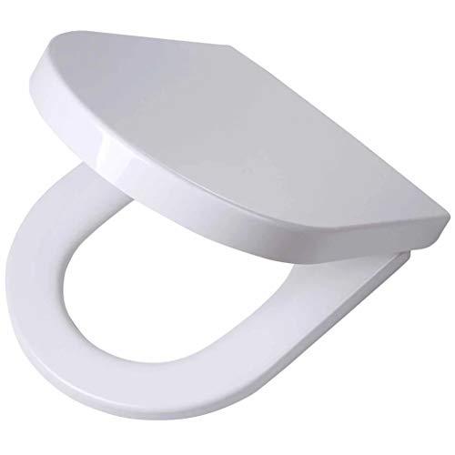 Tiger Toilettensitz Memphis in markantem Design mit Absenkautomatik und Easy-Clean-Funktion, Duroplast, Farbe: weiß