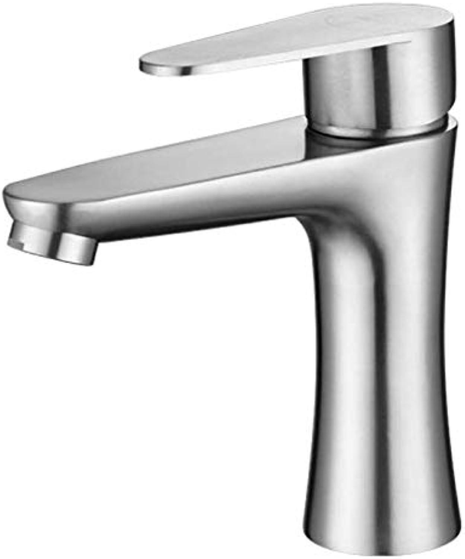 Waschtischmischer Edelstahl heier und kalter Wasserhahn Duschbad Badezimmer Waschbecken Pool Waschtischmischer