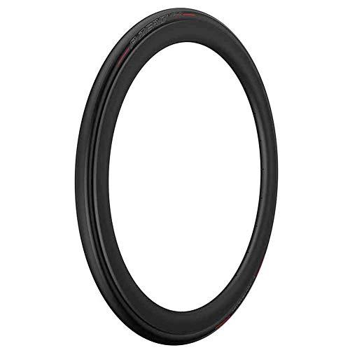 Pirelli Unisex– Erwachsene P Zero Velo TT Rennrad Reifen, Black/red, 25-622