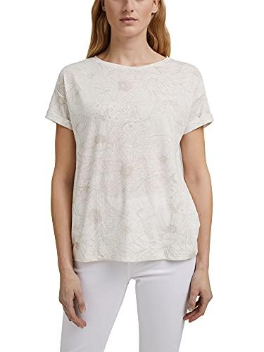 Esprit 041ee1k365 Camiseta, Blanco Crudo, XXL para Mujer