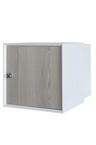 FACKELMANN Waschbeckenunterschrank IX! / Badschrank mit Soft-Close-System/Maße (B x H x T): ca. 35 x 35 x 48 cm/Möbel fürs WC oder Badezimmer/Korpus: Weiß/Front: Braun/Breite 35 cm