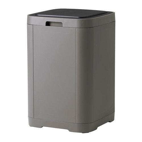 Ikea GIGANTISK Touch top vuilnisbak, donkergrijs