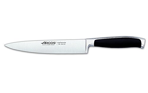Arcos Serie Kyoto - Cuchillo de Cocina - Hoja de Acero Inoxidable Forjado Nitrum 160 mm - Mango de Polioximetileno (Pom) Color Negro
