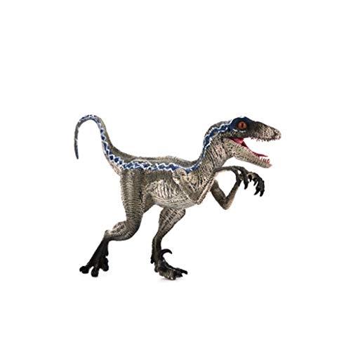 TIREOWJurassic Park Dinosaurier Blue Velociraptor Figur Tiermodell Spielzeug Sammler für Jungen