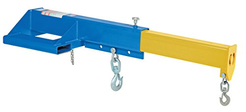 """Vestil LMS-EBT-46-8 Telescoping Shorty Lift Boom, 24"""" Fork Pocket Center, Overall LxWxH (in.) 53-7/8 x 32 x 15, Extended Length (in.) 90-7/8, Minimum Hook Point (in.) 31, Maximum Hook Point (in.) 89"""", Blue"""