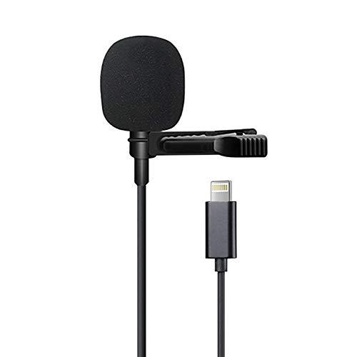 LituFoto Microfono Professionale per iPhone/ipad Grade Lavalier Lapel Omnidirezionale Telefono Audio...