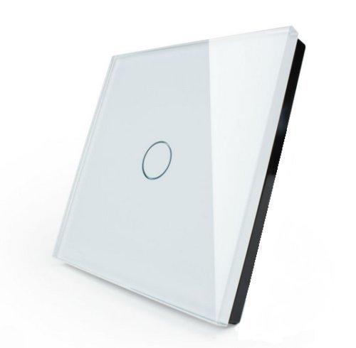 LIVOLO Glas Touch Lichtschalter Funkschalter Steckdosen Wechselschalter uvm in weiß (Nur Rahmen: VL-C7-C1-11)