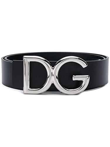 Dolce e Gabbana Luxury Fashion Herren BC4248AC49387653 Schwarz Leder Gürtel | Herbst Winter 20