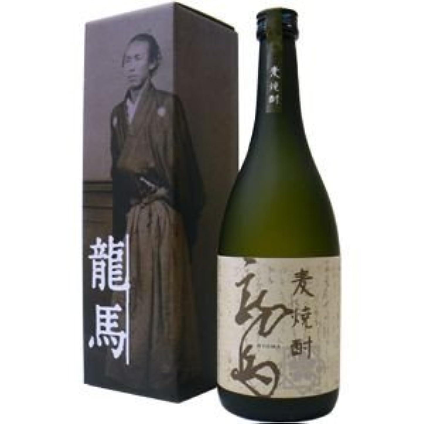 バンジョーシルエットすずめ菊水酒造 麦(むぎ)焼酎 龍馬 ギフト箱入 25度 720ML