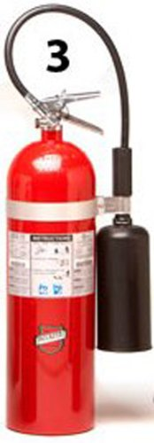 Buckeye 46100 Carbon Dioxide Hand Held Fire Extinguisher with Wall Hook, 15 lbs Agent Capacity, 6-7/8