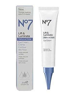 No7 Lift & Luminate TRIPLE ACTION Eye Cream 15ml Brand New