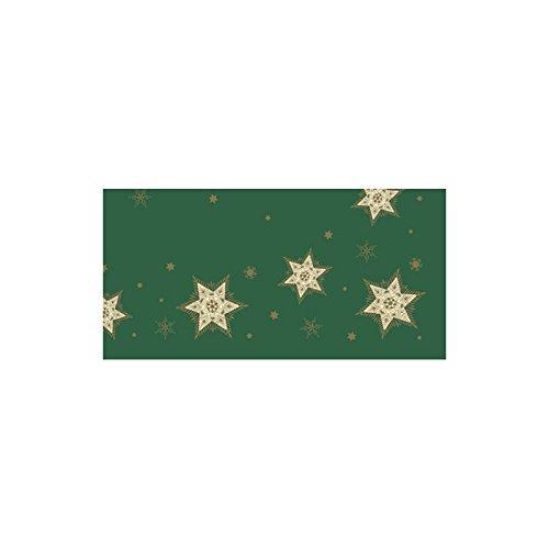 Duni Dunicel Mitteldecken Glittering Stars Green 84x84 cm 20er Pck.