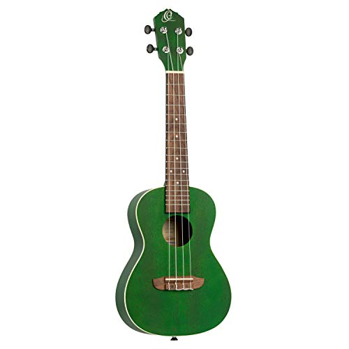 Ortega Gitarren ruforest Earth Series Concert Ukulele, Okoume Top & Body, transparent Forest grün