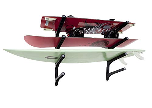 Nice Rack Quad Black - Sistema expandible de Racks de Surf: agregue fácilmente Racks de Tablero adicionales a su Nice Rack existente en un ';Snap';