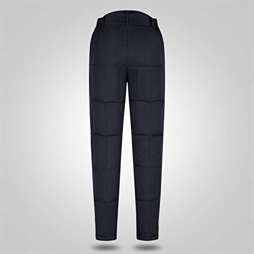 Pantalones de algodón de los hombres de fondo grueso de gran tamaño de gran tamaño de la cintura alta, los pantalones de los hombres se pueden usar dentro y fuera de los pantalones tibios calientes té