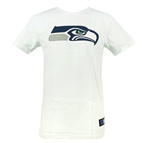 Seahawks Seattle American Football T Shirt Tee White Weiss Größe S