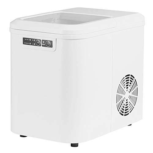 WOLTU EM01ws Eiswürfelmaschine Eismaschine Ice Maker Eiswürfelbereiter, 15kg 24h, 2 Eiswürfel-Größen, 2,2 Liter Wassertank, 120 W, ABS, weiß