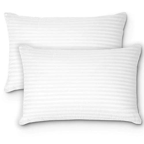 Bed Pillows for Sleeping Standard Queen Size Fiber Pillows (2 Pack)