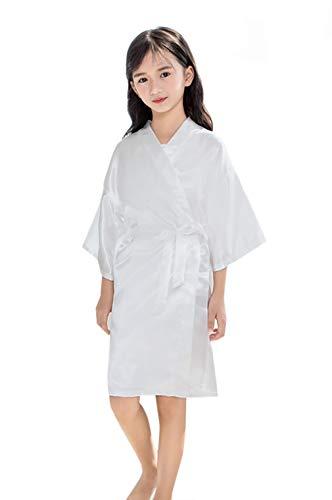 Taigoodella Ragazza di Colore Puro Accappatoi in Raso Kimono Robe Vestaglia di Seta Camicia da Notte degli Indumenti da Notte