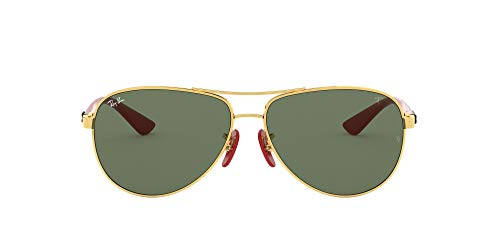 Ray-Ban Herren 0RB8313M F00871 61 Sonnenbrille, Gold (Gold/Green)