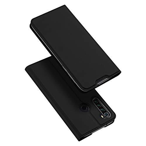DUX DUCIS Hülle für Xiaomi Redmi Note 8T, Leder Klappbar Handyhülle Schutzhülle Tasche Hülle mit [Kartenfach] [Standfunktion] [Magnetisch] für Xiaomi Redmi Note 8T (Schwarz)