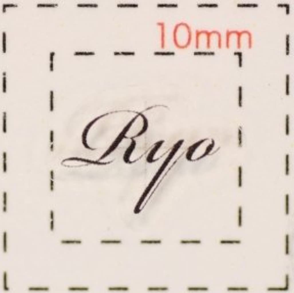 アフリカ傷つきやすい環境名前 ネイルシール【アルファベット?イニシャル】デザイン( Ryo りょう)1シート6枚入