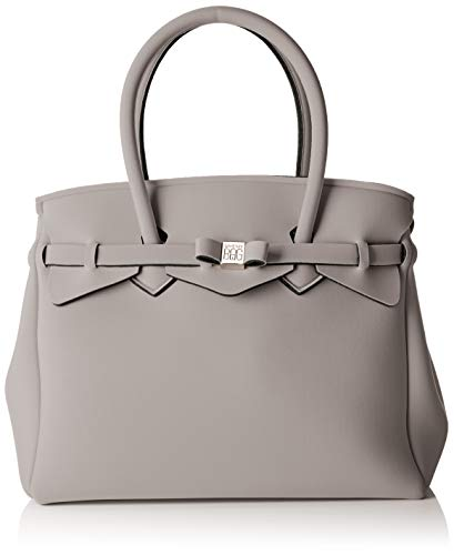 save my bag Miss Plus, Borsa a spalla Donna, Grigio (Turtle), 34x29x18 cm (W x H x L)