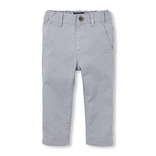 The Children's Place Boys' Toddler Skinny Chino Pants, FIN Gray, 12-18MOS
