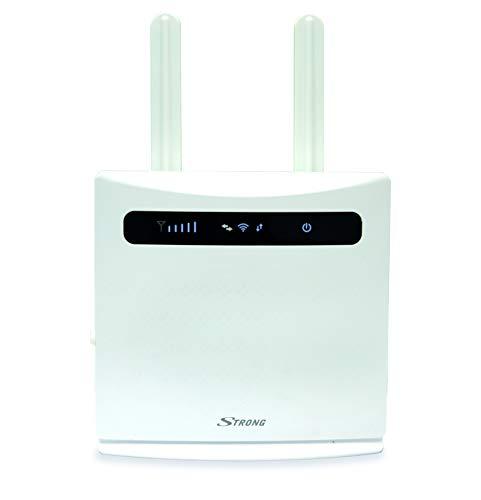 STRONG 4G LTE WLAN Router 300【LTE bis 150 Mbit/S, 2.4 GHz WiFi @ 300 Mbit/S, 802.11b/g/N, 4X LAN Ports, 2X SIM Adapter】 Weiß