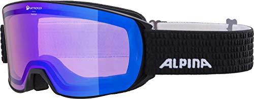 ALPINA NAKISKA Skibrille, Unisex– Erwachsene, black matt, one size