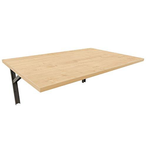 mikon 100x50 Wandtisch Wandklapptisch Küchentisch Schreibtisch Esstisch | Ahorn