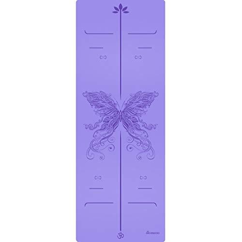 Esterilla de yoga para ejercicio femenino ensanchada y engrosada para principiantes, manta de yoga y yoga alargada, antideslizante para el hogar (color: D, tamaño: 183 cm x 68 cm x 5 mm)