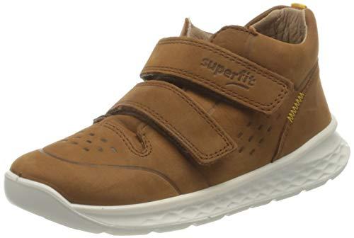 Superfit Breeze Sneaker, BRAUN/GELB, 26 EU