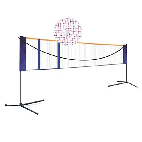 Netze & Garnituren Badminton Badminton-Netzgestell Rostschutzbeschichtung einfaches Klappgestell verstellbar Outdoor-Sport-Fitnessgeräte Volleyball-Gestell (Color : Black, Size : 518 * 155cm)