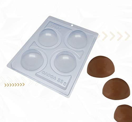 Hot Chocolate Bomb Molds   Four Parts Special Mold made by BWB Embalagens in Brazil   Chocolate Molds that help you make a Viral Treat at home   Ideal Product in the Kitchen (60mm Sphere)