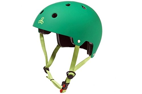 Triple 8 Brainsaver Dual Certified EPS green Rubber Helm