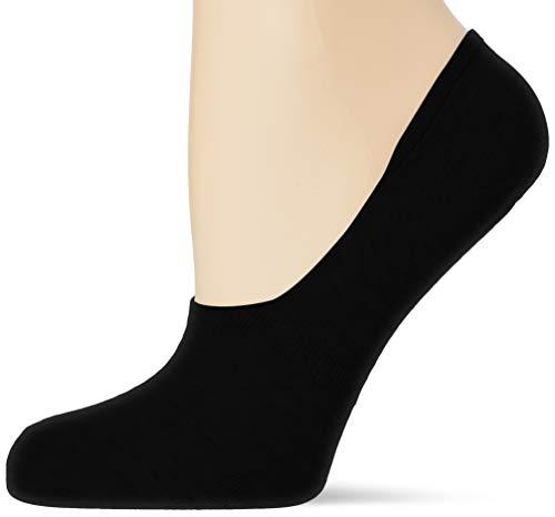 Nur Die Womens Damen Sneaker Füssling Socks, schwarz, 39-42