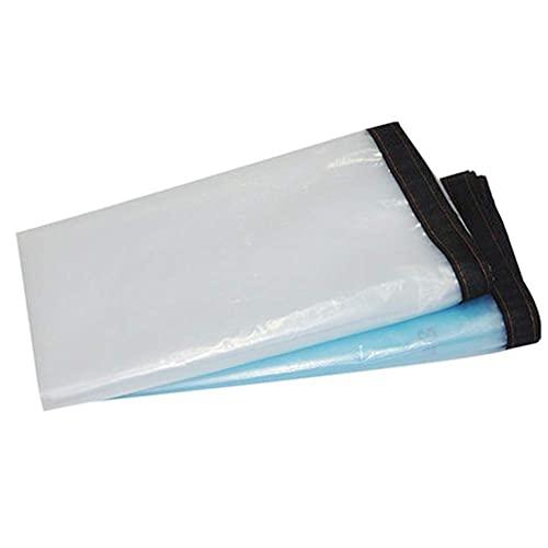 Lona de plástico transparente con bordes reforzados con arandelas, cubierta de lona impermeable a prueba de polvo para patio para techos de suelo, toldo, toldo, cubierta de piscina (tamaño: 5 mx 6 m