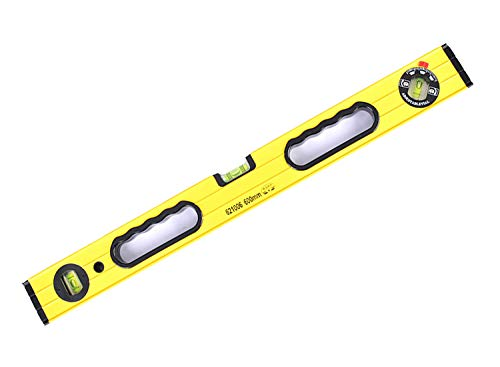 24 Inch Box Level, Magnetic Level Ruler with Backpack, Aluminum Alloy Leveler Torpedo Level, 3 Different Bubbles/45°/90°/180°Measuring, Shock Resistant Waterproof
