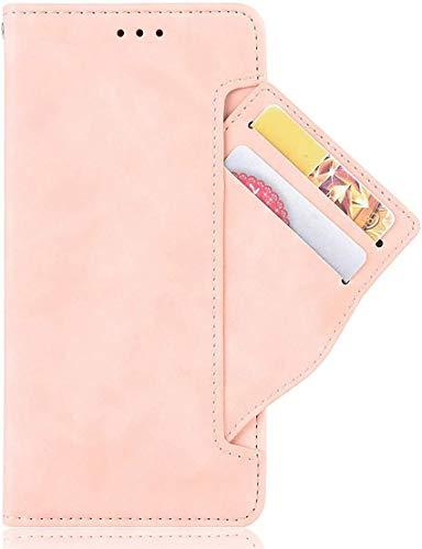 SCRENDY Funda Xiaomi Mi Mix Fold, Cuero Retro Cover, Piel PU Suave Flip Folio Caja Soporte Plegable Funda Cáscara, Wallet Case con Ranuras para Tarjetas, Rosa