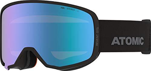 Atomic, All Mountain-Skibrille, Unisex, Für wolkiges bis sonniges Wetter, Large Fit, Kompatibel mit Sehbrille, Revent Stereo OTG, Schwarz/Blau Stereo, AN5106082