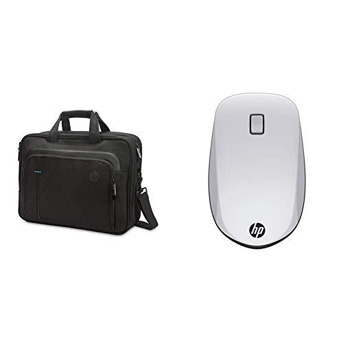 HP - PC SMB Borsa a Tracolla per Portatili fino a 15.6  & Z5000 Mouse con Connessione Bluetooth, Argento Nero