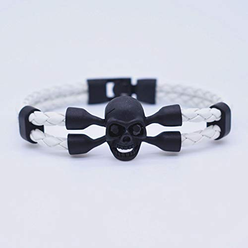 Jewellery Bracelets Bangle For Men Punk Skeleton Bracelet Leather Cuff Bracelet Skull Bracelets For Women Mens Crystal Snaps Jewelry Ne602