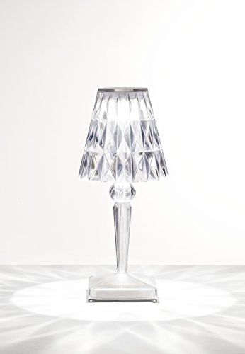 Kartell Battery, Table Lamp, Glasklar