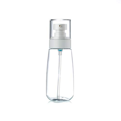 Amuzocity Haut de pulvérisation de brume de bouteille en plastique transparent rechargeable pour le parfum d'huile essentielle et d'autres liquides - blanc