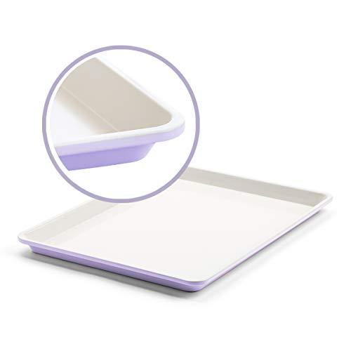 GreenLife Bakeware Healthy Ceramic Nonstick, Cookie Sheet, 18' x 13', Lavender,CC002523-001